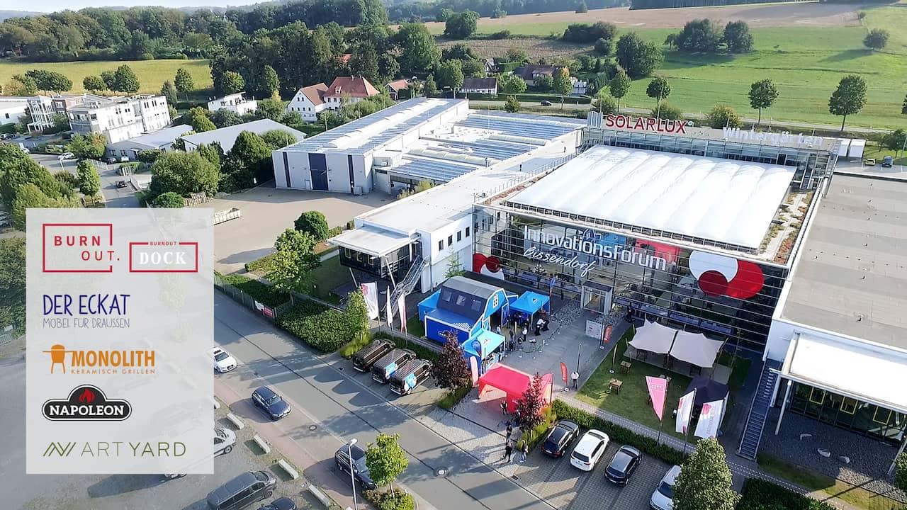 Ausbau des Messezentrum im BURNOUT-DOCK