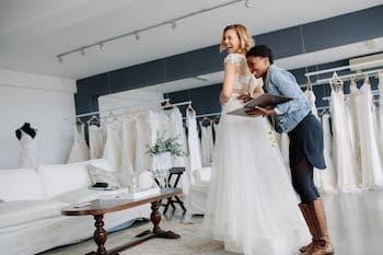 Brautmode Ladenbau