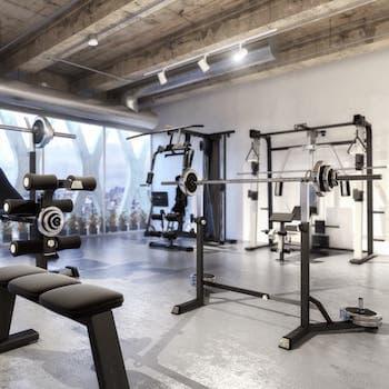Fitnessstudio Ladenbau